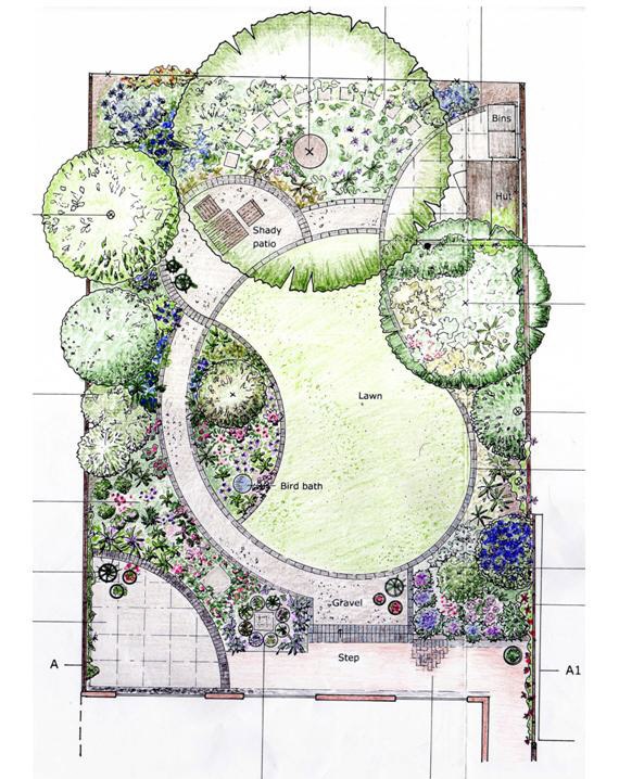 Flower garden design pictures and layout pdf for Small garden layout plans